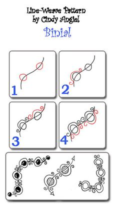zentangle pattern 'binial'