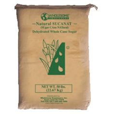 Wholesome Sweeteners Natural Sucanat, 50 Pound