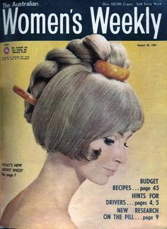 Wig fashion, The Australian Women's Weekly, August 1967.