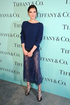 Hilary Rhoda in Jason Wu ~ Tiffany & Co. Celebrate the 2014 Blue Book