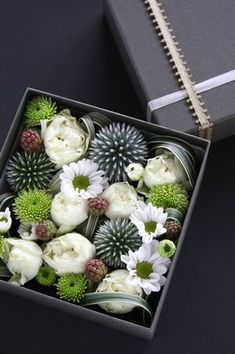 Box of chocolates?  How 'bout a box of flowers instead?