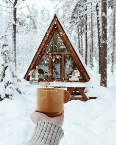 A Frame Cabin, A Frame House, Winter Cabin, Cozy Cabin, Cozy Winter, Winter Snow, Hygge, Christmas Mood, Xmas
