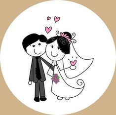 Dibujos de novios de bodas frases amor   imagenes y frases de amor 14 de febrero