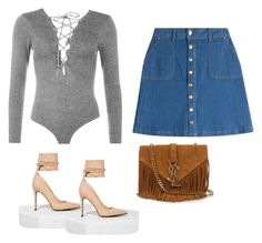 """""""Spring OOTD"""" by itsbrianasanders ❤ liked on Polyvore featuring WearAll, HUGO, Nasty Gal and Yves Saint Laurent"""