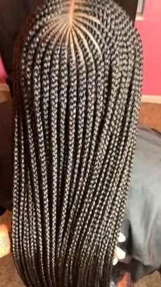 Middle part Tribal Braids l Braid Inches l PolishedByTesia Lemonade Braids Hairstyles, Box Braids Hairstyles For Black Women, Braids Hairstyles Pictures, Twist Braid Hairstyles, African Braids Hairstyles, Cornrows Braids For Black Women, Black Girl Braids, Braids For Black Hair, Protective Style Braids