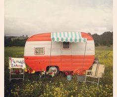 Vintage camper ...cute awning