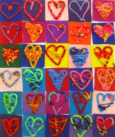 Cassie Stephens: In the Art Room: Our School has Heart! Mural Project, Part 1