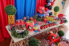 32 Ideias de Decoração Festa Infantil Homem-Aranha #homemaranha #festainfantil 4th Birthday Parties, Birthday Party Decorations, Table Decorations, Daycare Forms, Avengers Birthday, Bathroom Tile Designs, Man Party, Cowgirl Outfits, Tutu