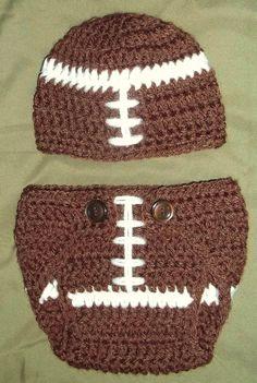 Crochet Baby Football Diaper Cover and Hat Set, Newborn Boy Sports ... www.etsy.com