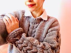 Un hermoso suéter, tutorial gratis. – TEJIDOS KIRIKIRI Men Sweater, Pullover, Sweaters, Fashion, Knits, Knitting Projects, Free Knitting, Moda, Fashion Styles