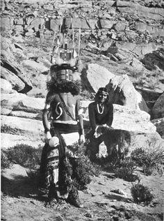 Hopi - A Chief of the Katchina dance, at the Moki in Arizona [1900]