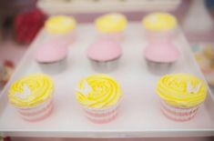 pink & yellow butterfly themed birthday party