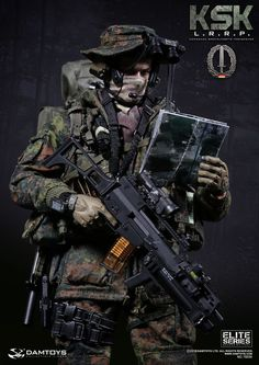 onesixthscalepictures: DAM Toys KSK ( KOMMANDO SPEZIALKRÄFTE ) LRRP : Latest product news for 1/6 scale figures (12 inch collectibles).