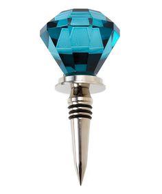 Cobalt Doorknob Wine Stopper