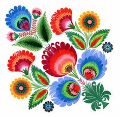 Lovely flowers.  Wycinanki, the art of Polish paper cutting.