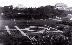 Gardens to the Marshall house.