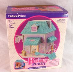 Precious Places Best Friends Pet Shop Original Box Incomplete Set Toy 1988 #FisherPrice