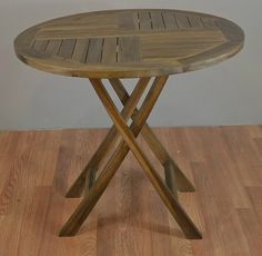 "Teak Patio Folding Table 31.5"""