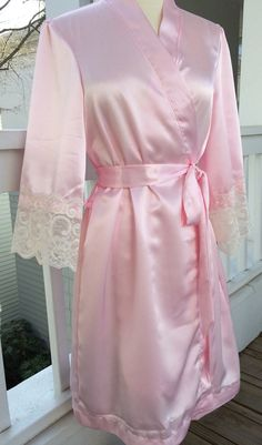 a06c222965 Bridesmaid RobesTHE PARISIAN Satin Robe with FRENCH by ChezBlanc Gown  Pictures