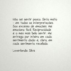 Meu sentir... - Luverlando Silva