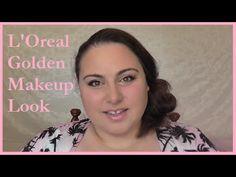 L'Oreal Golden Makeup Look - YouTube