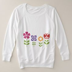 #Cute Colorful Flowers Plus Size Sweatshirt - #flower gifts floral flowers diy