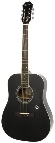 Epiphone DR-100 Acoustic Guitar, Ebony - http://www.learntab.com/guitar-deals/epiphone-dr-100-acoustic-guitar-ebony/