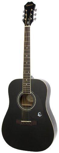 Epiphone DR-100 Acoustic Guitar, Ebony - http://www.learntab.com/guitar-deals/epiphone-dr-100-acoustic-guitar-ebony/