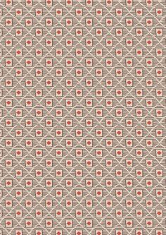 Big Bear Little Bear A104.2 - Woody diamonds on brown from Lewis & Irene £2 // Juberry Fabrics