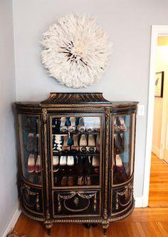 lovely shoe storage (Kristina, this is soooo u)!