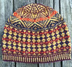 The Korona Hat is a stranded color work hat knit in the round and sized to fit a 21 inch/ average adult/teen head after blocking.The hat can be patted into a beanie shape or blocked over a ten inch dinner plate for a tam/beret shape. Fair Isle Knitting Patterns, Fair Isle Pattern, Knit Patterns, Lace Knitting, Knit Crochet, Crochet Hats, Yarn Thread, Knitting Accessories, Bandeau
