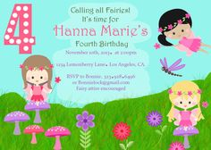 Hey, I found this really awesome Etsy listing at https://www.etsy.com/listing/174863626/fairy-garden-birthday-invitations