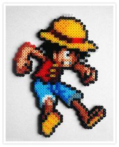 Luffy One Piece hama mini beads -  Pixel Art Shop