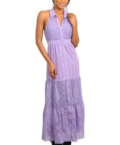 Look what I found on #zulily! Purple Button-Up Sleeveless Maxi Dress #zulilyfinds