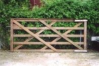 Welsh Gate - 3.6m - These rural gates are available in a wide variation of sizes, in both singles and doubles. We also offer custom sizes to ensure a perfect fit for existing and established entry ways. #timbergate #woodengate