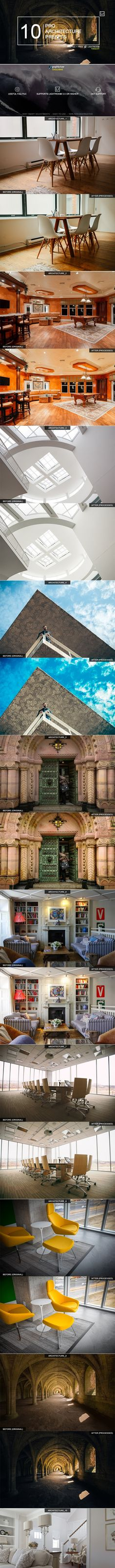 Buy 10 Pro Architecture Presets by zvolia on GraphicRiver. About 10 Pro Architecture Presets: This professional presets are designed to be used with interior and architecture .