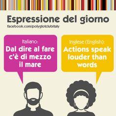 Italian / English idiom: actions speak louder than words