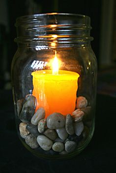 Votive Candle Relaxation Jar- Made To Order Uses For Mason Jars, Mason Jar Candles, Votive Candles, Cheap Home Decor, Diy Home Decor, Cute Crafts, Diy Crafts, Everything Is Illuminated, Do It Yourself Crafts