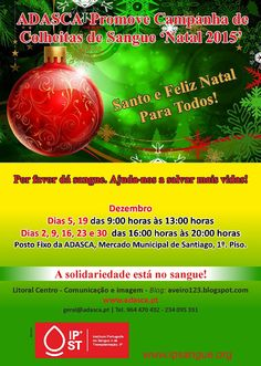 LITORAL CENTRO - COMUNICAÇÃO E IMAGEM: Dia 19 de Dezembro Colheita de Sangue e Registo pa...