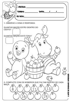 I wish we did this in Spanish class! Preschool Worksheets, Math Activities, File Folder Activities, Student Motivation, Kindergarten, Teaching, Spanish Class, Cartoon, Preschool Literacy Activities