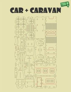 Coche caravana rompecabezas 3D DXF Plan por Buzzlaser en Etsy