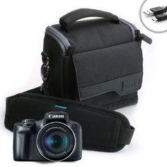 USA Gear Medium Travel Bag Camera Case for Canon Powershot SX500 IS / SX160 IS / G1X / G15 / G12 & More by Accessory Genie. $14.99. Protect Your Camera Wherever You Go!Quality DOES MatterWork with confidence knowing that your camera is protected with this durable, heavy-duty USA Gear S4 camera bag! The exterior is made of high-density Ripstop Nylon & a rugged wrap bottom to withstand harsh weather conditions. The interior is constructed with a scratch-resistant...
