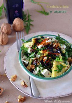 insalata di feta e ananas