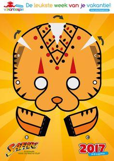 Sluip als een cheetah door de natuur met dit masker. Gemaakt voor het Vakantiespel 2017: Safari.