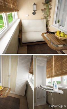 Küçük Balkonlar İçin Büyük Ve Yaratıcı Fikirler Small Space Living, Small Spaces, Log Home Kitchens, Marquise, Interior Decorating, Interior Design, Balcony Design, Home And Deco, Small Apartments