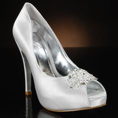 MY GLASS SLIPPER FORTE Wedding Shoes and FORTE Dyeable Bridal Shoes WHITE, IVORY