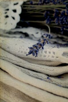 Lavender and old linen by {Frl.Klein}, via Flickr