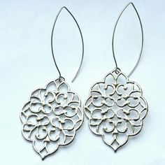 Silver Bohemian Dangle Earrings | MIA ELLIOTT