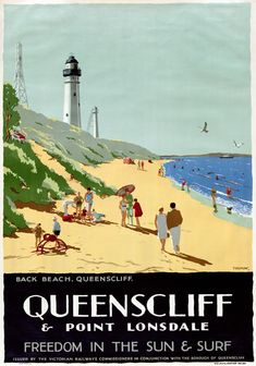 Queenscliff Point Lonsdale Australia Vintage Travel Poster by Percy Trompf Posters Australia, Australian Vintage, Tourism Poster, Beach Posters, Vintage Travel Posters, Retro Posters, Poster Vintage, Advertising Poster, Travel Aesthetic
