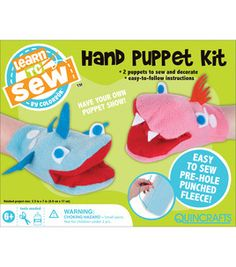 Hand Puppet Sewing Kit available at Joanns